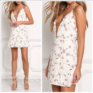 New! Ivory floral dress